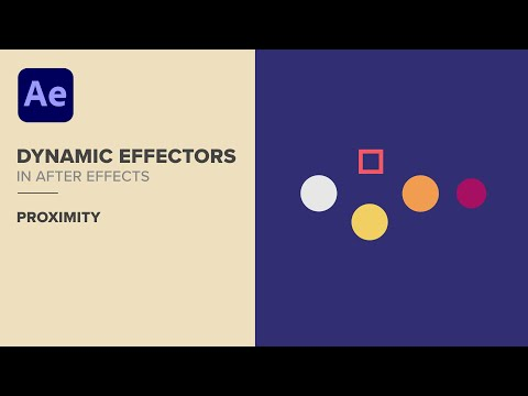After Effects: Dynamic Proximity Effectors with Expressions