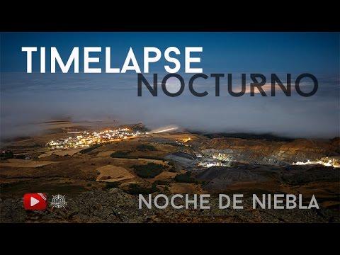 Timelapse nocturno - Noche de Niebla - Aldeavieja, Ávila - Spain