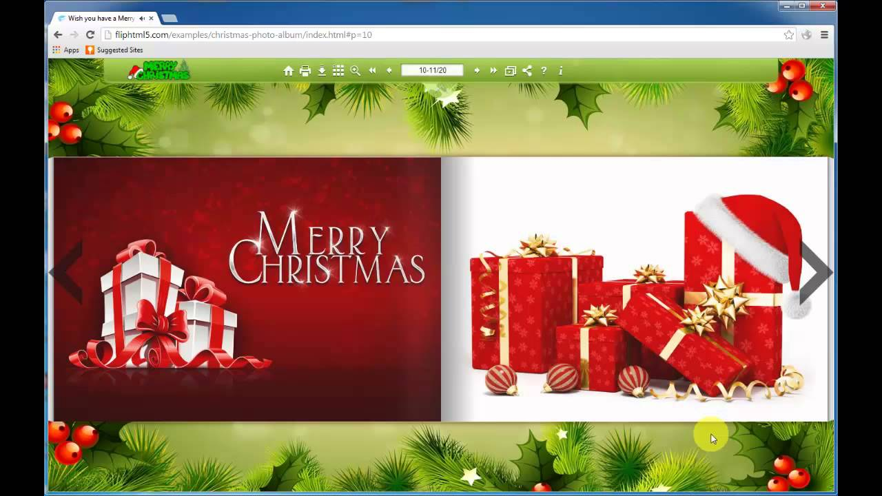 Flip HTML5 The Tutorial about How to Create Html5 Page Flipping Christmas  Card