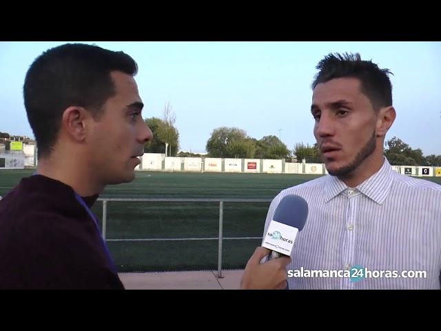 Adrián Cruz, tras el CD Guijuelo - Salamanca CF UDS