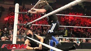 AJ Styles attacks The Miz on the set of Miz TV: Raw, February 1, 2016
