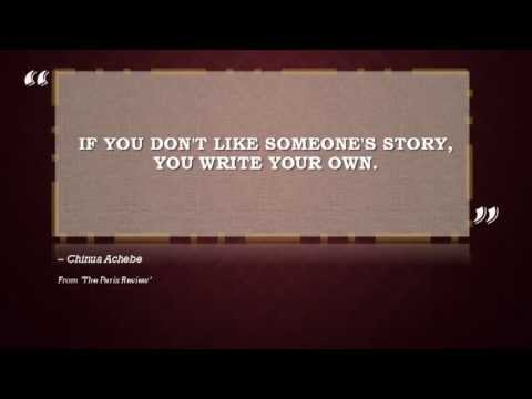 Chinua Achebe Quotes Best Chinua Achebe Quotes Powerful Writing From Late Author YouTube