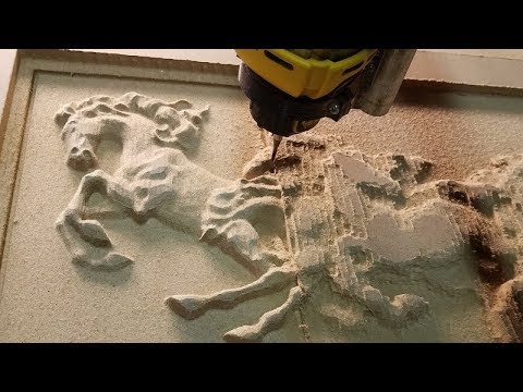 MPCNC mostly printed CNC Horses timelapse