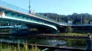 Der Sprung von der Gersweiler-Brücke Burbach 115