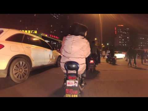 Wuhan Guanggu Optical Valley Streets at night 4K
