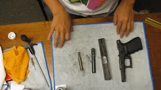 CLEANING A GLOCK 19 HANDGUN   FIRST TIMER   PINAY IN TEXAS