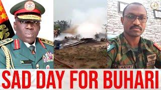 Moment Nigeria's New Chief Of Army Staff, Ibrahim Attahiru & 10 Others Military Jet Crashed!