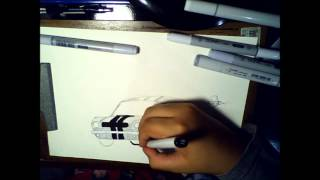 Como desenhar Mustang Shelby antigo - How to draw an old mustang shelby