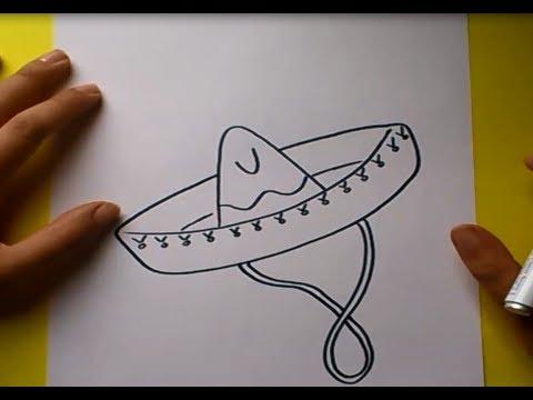 Como dibujar un sombrero paso a paso  3ad7100a5e4