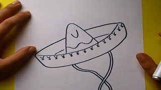 Como dibujar un sombrero paso a paso | How to draw a hat