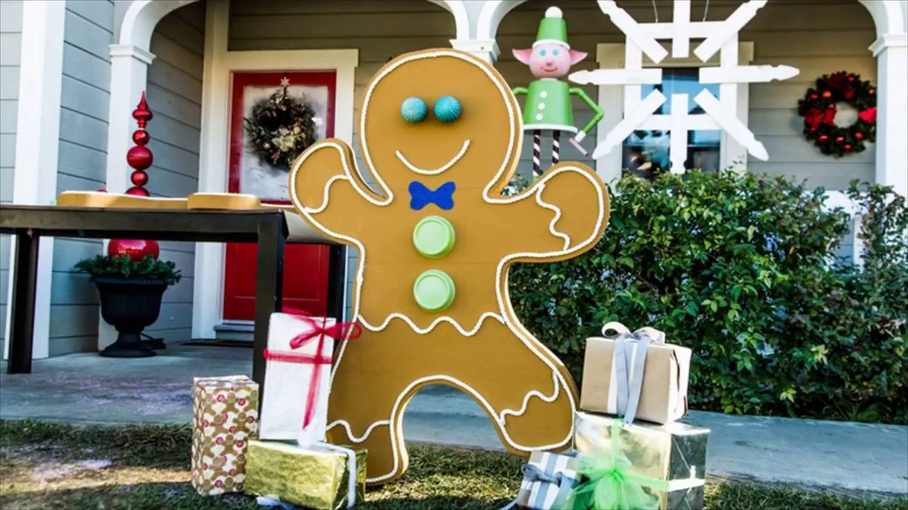 gingerbread family outdoor christmas decoration - Gingerbread Outdoor Christmas Decorations