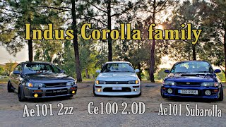 Ae100, Ce100 & Ae101 indus corolla 3 different variants full detailed  review