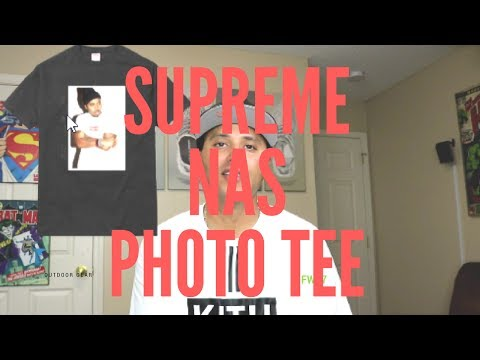Supreme Nas Photo Tee