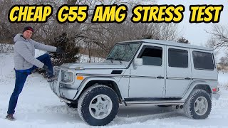 homepage tile video photo for Was Buying the Cheapest Mercedes G55 AMG with 220,000 Miles a Mistake?