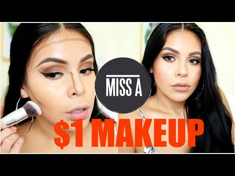 FULL FACE USING $1 MAKEUP + BRUSHES!? HIT OR MISS