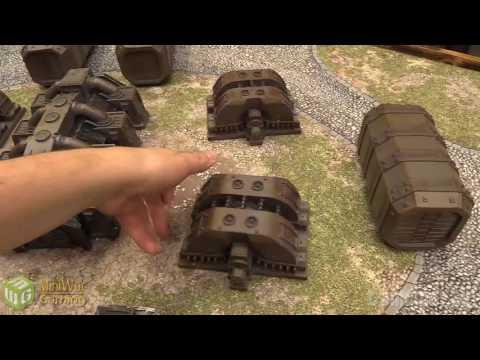 Prepainted Industrial Terrain Showcase by Gamemat eu
