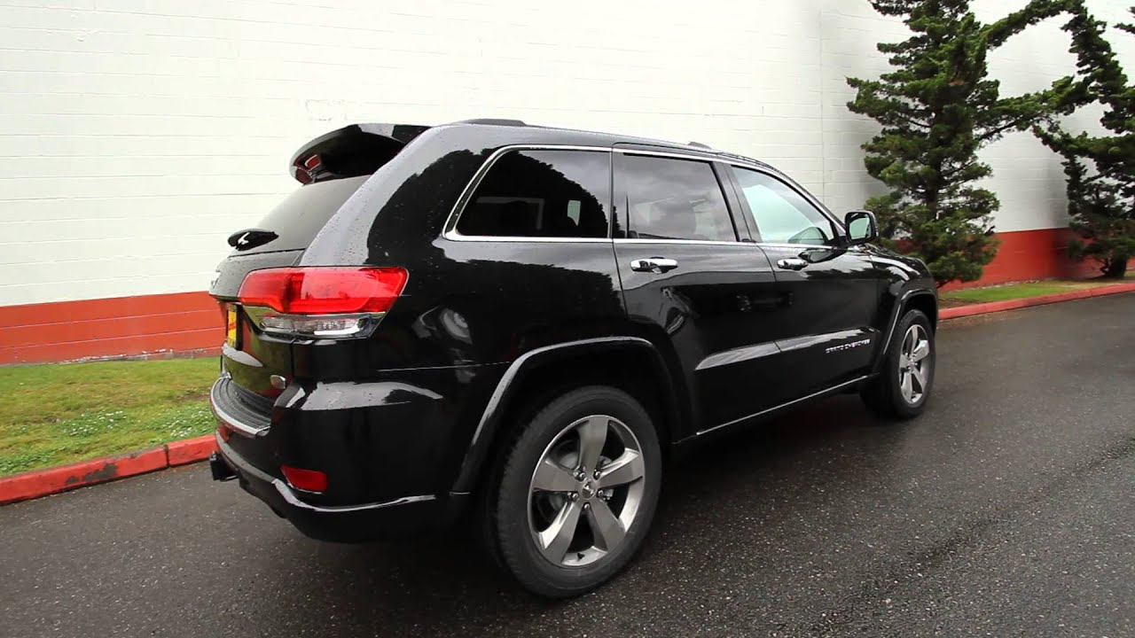 2014 Jeep Grand Cherokee Overland Black Stk Ec209292