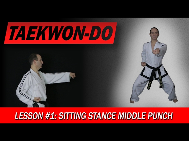 Sitting Stance Middle Punch - Taekwon-Do Lesson #1