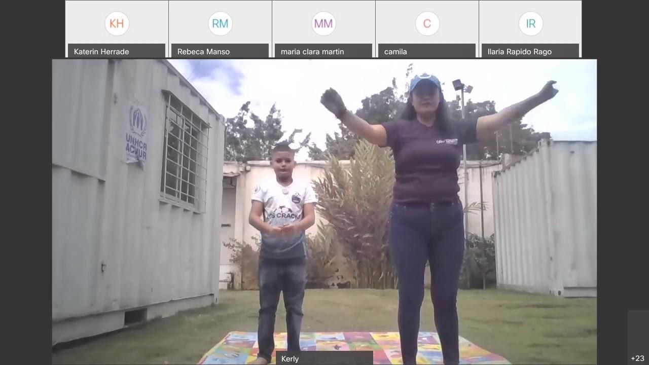 Talleres Día Mundial del Refugiado 2020 en Ecuador: Yoga de la risa sin fronteras