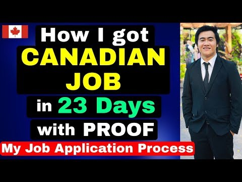 HOW I GOT A JOB IN 23 DAYS WITH NO CANADIAN EXPERIENCE | CANADA JOBS CAREERS EMPLOYMENT