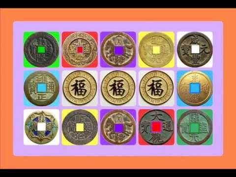 เหรียญจีนโบราณ 5 ธาตุ;ใส่เสียงเงินไหลมา {2HOUR}