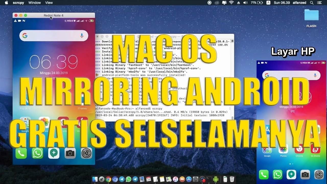 Mac OS - How To Mirror Your Android Device