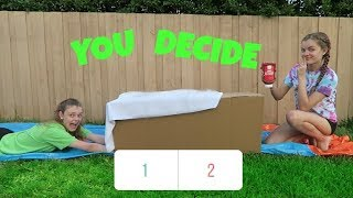 Try Not to Slide Through the Wrong Mystery Box (You Decide) ~Jacy and Kacy