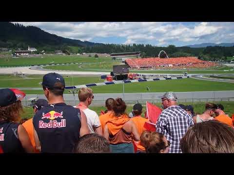 F1 Oostenrijk 2018 vanaf Red Bull Tribune, Max Verstappen wint de Austrian GP !!