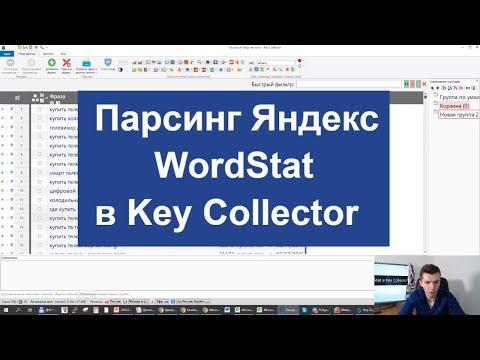 Парсинг Яндекс WordStat в Key Collector