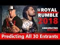 WWE Royal Rumble 2018: Predicting All 30 Entrants | WWE Men Roster