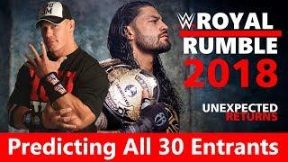 WWE Royal Rumble 2018: Predicting All 30 Entrants | WWE Men Roster