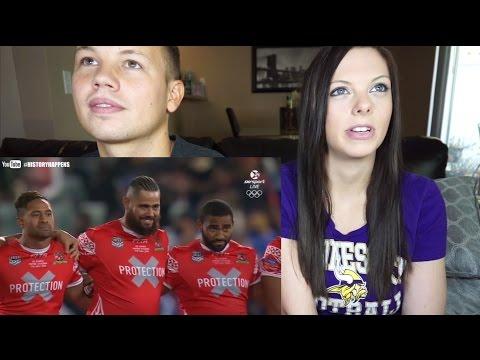 Samoa vs. Tonga - War Dance | Reaction