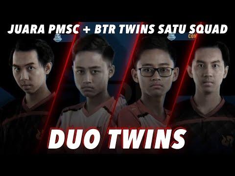 BTR TWINS + RRQ ATHENA TWINS - PUBGM Indonesia
