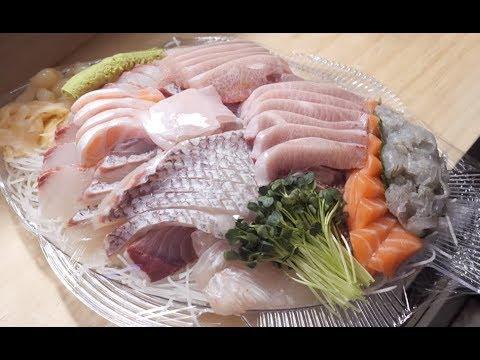 [4K]모듬회 회뜨기(대방어,참돔,광어,참숭어,강도다리)_노량진 푸른바다 횟집_Sashimi Platter