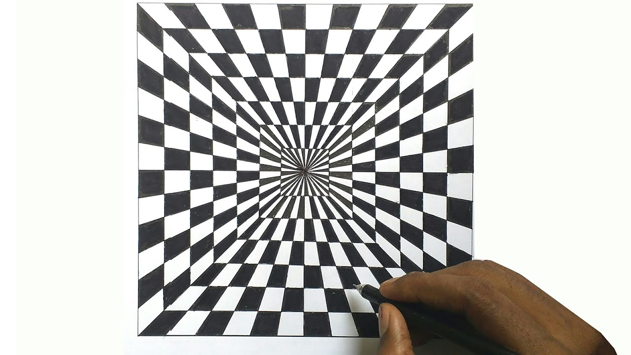 Optical Illusions Square How to draw a b...