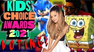 Kids' Choice Awards 2021 VOTING!