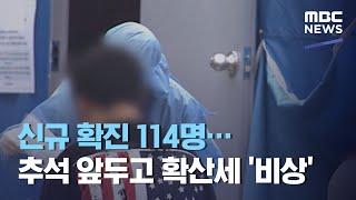 신규 확진 114명…추석 앞두고 확산세 '비상' (2020.09.25/5MBC뉴스)