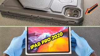 iPad Pro 2020 unboxing + applying glass screen protector & magnetic case