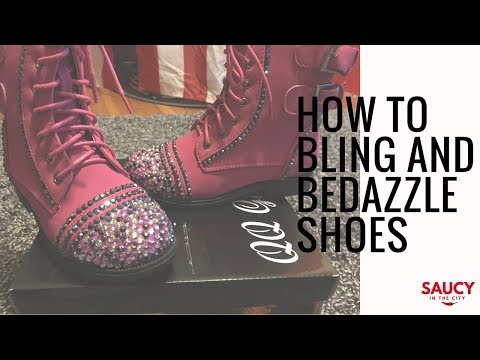 DIY | How to Bling/Bedazzle Shoes