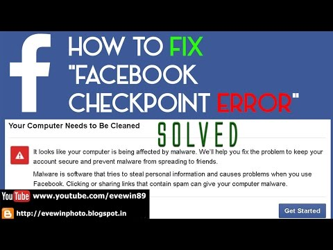 Evewin Lakra - How To - Fix - FACEBOOK - CHECKPOINT - ERROR