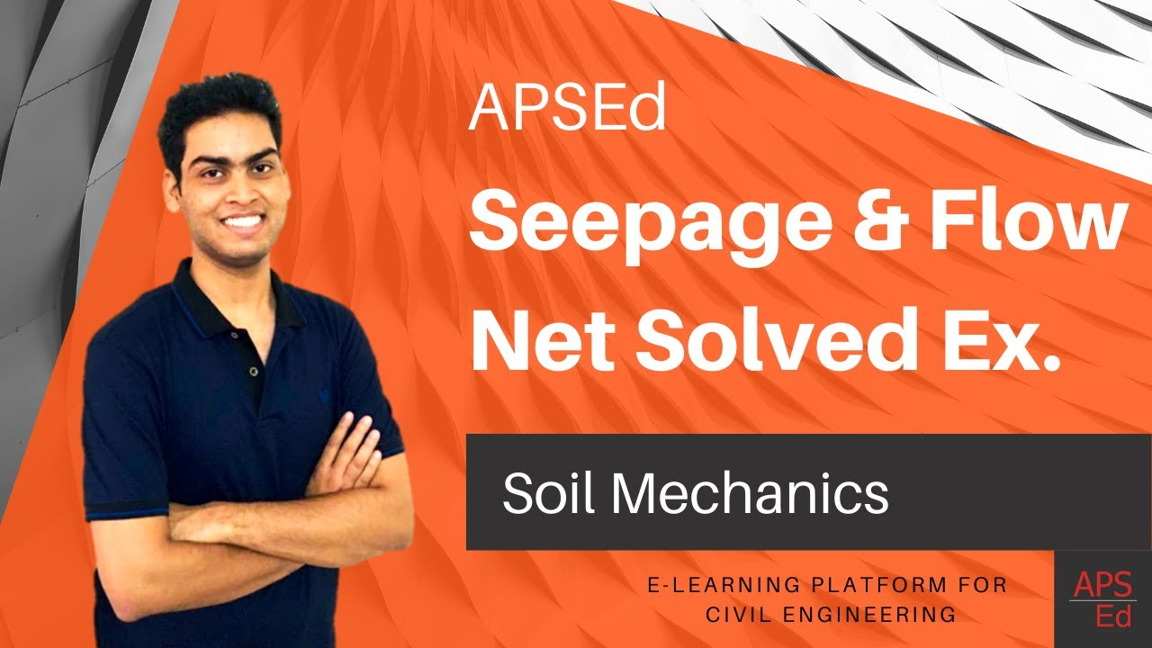 flow net and seepage analysis gate problems soil mechanics