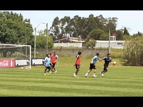 WOW! Luis Suarez Scores From his Own Box in Uruguay Training