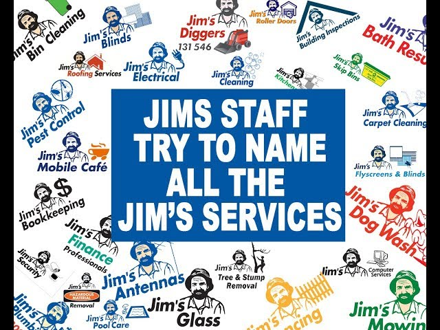 How many Jim's Group services can you name in a minute? | www.jims.net | 131 546 |