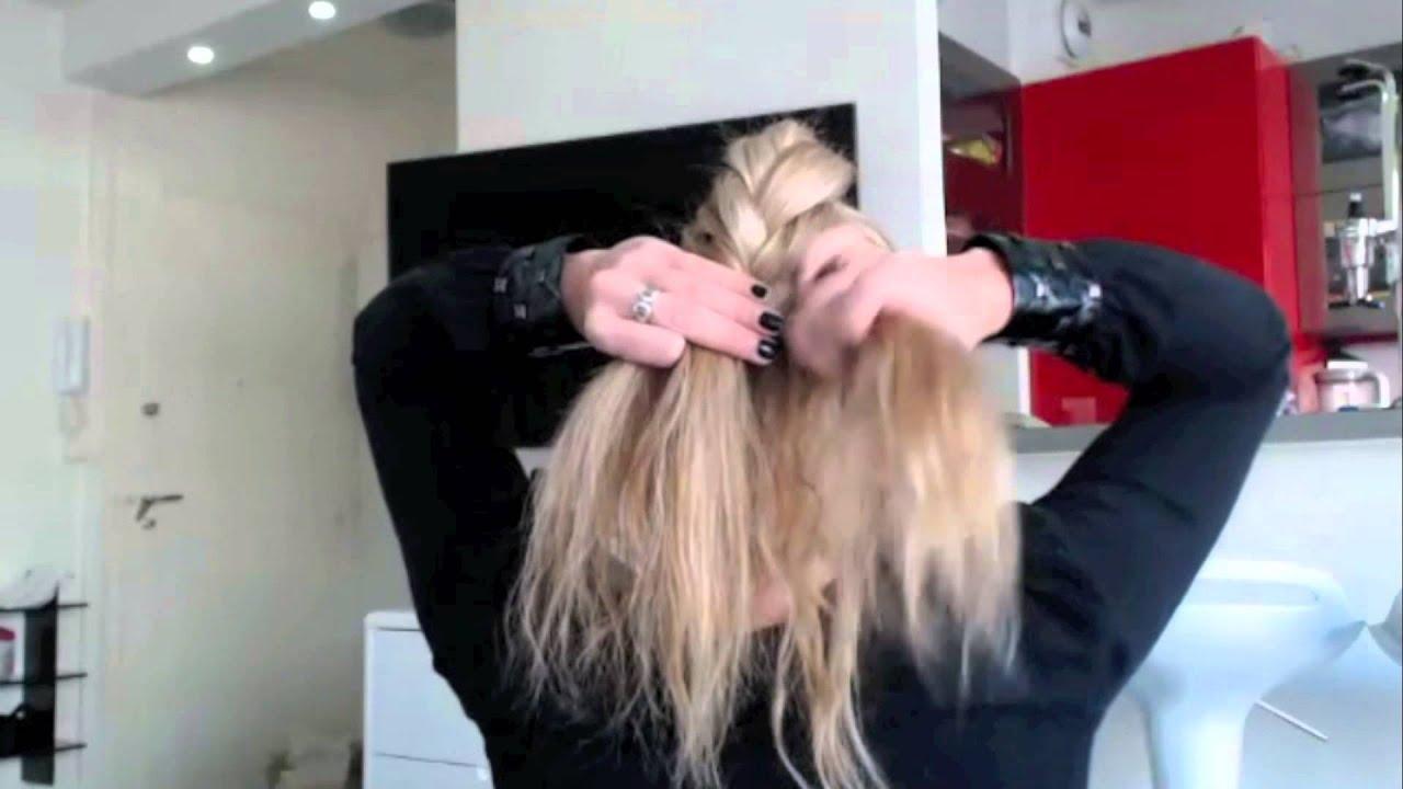 tuto coiffure 45 chignon romantique chic et facile easy romantic bun hairstyle youtube. Black Bedroom Furniture Sets. Home Design Ideas