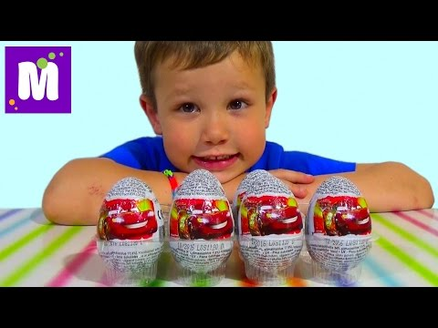 Тачки Дисней яйца сюрприз игрушки распаковка