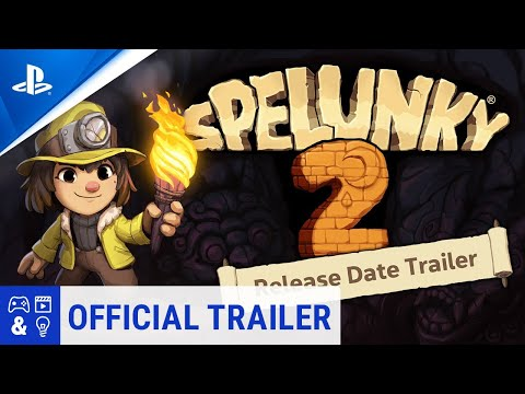 Spelunky 2 State of Play Release Date Trailer PS4