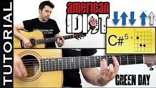 Green Day American Idiot En Guitarra Acústica Tutorial Completo Con Acordes Y Ritmo