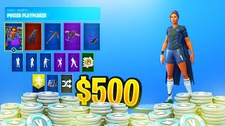 The STACKED $500 Fortnite Account! (Fortnite Locker SHOWCASE)