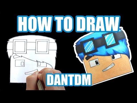 How To Draw - DanTDM (Step By Step Tutorial)