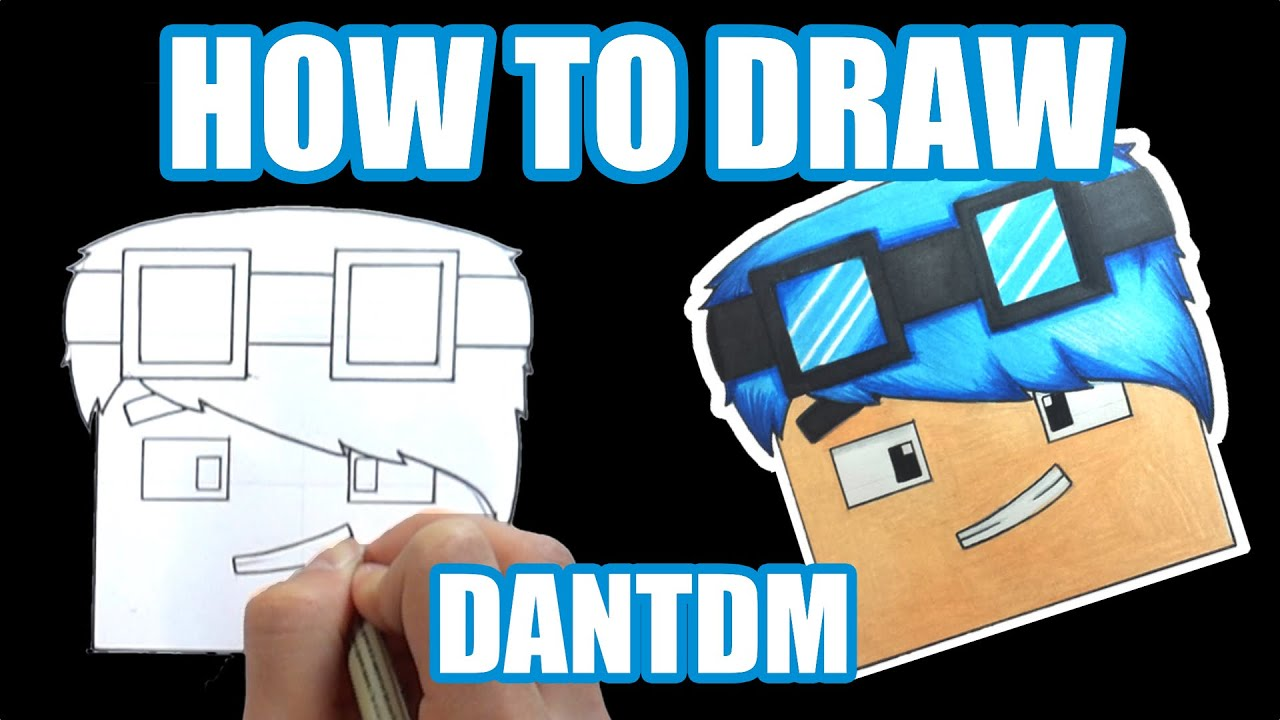 How To Draw  Dantdm (step By Step Tutorial)